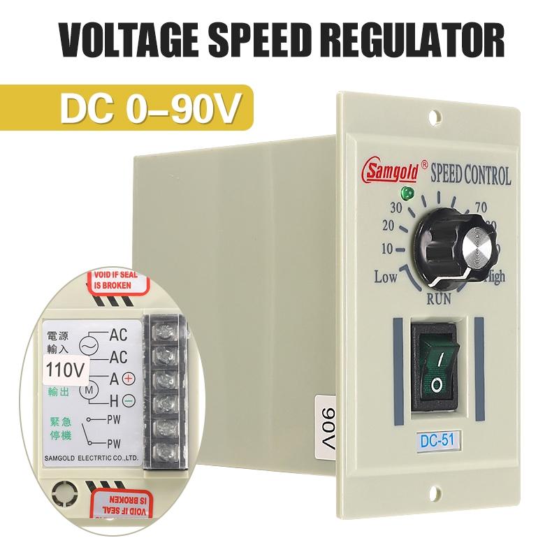 AC 110V 1//3 Variable Adjustable Motor Speed Lathe Controller For DC-51 90V 400W