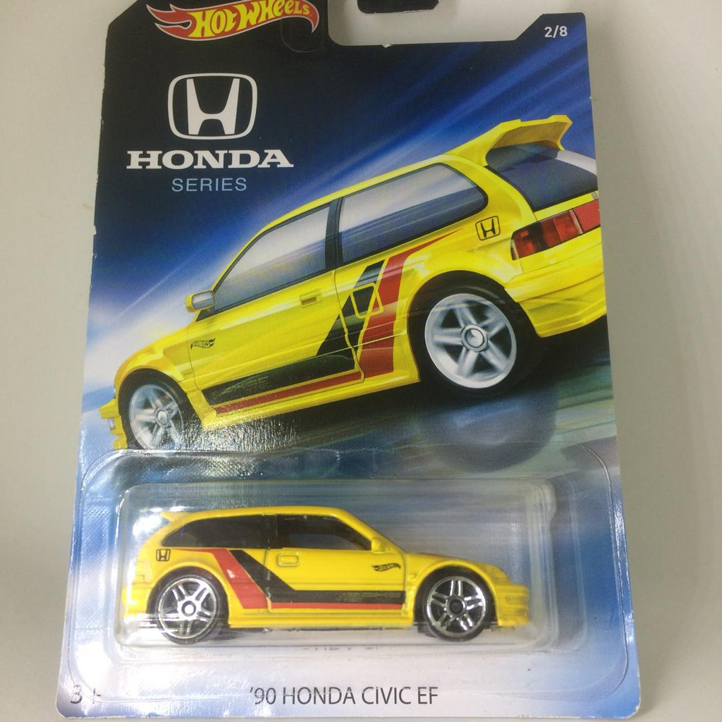 Hot Wheels 2018 Honda Set 90 Honda Civic EF Yellow lot of 3