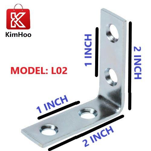 """KIMHOO 90° with Slots 2"""" x 2"""" 4 Hole Angle Bracket (L Bracket)"""