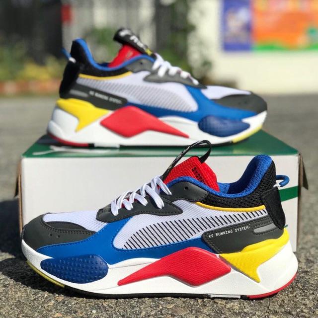 puma rsx blue red yellow