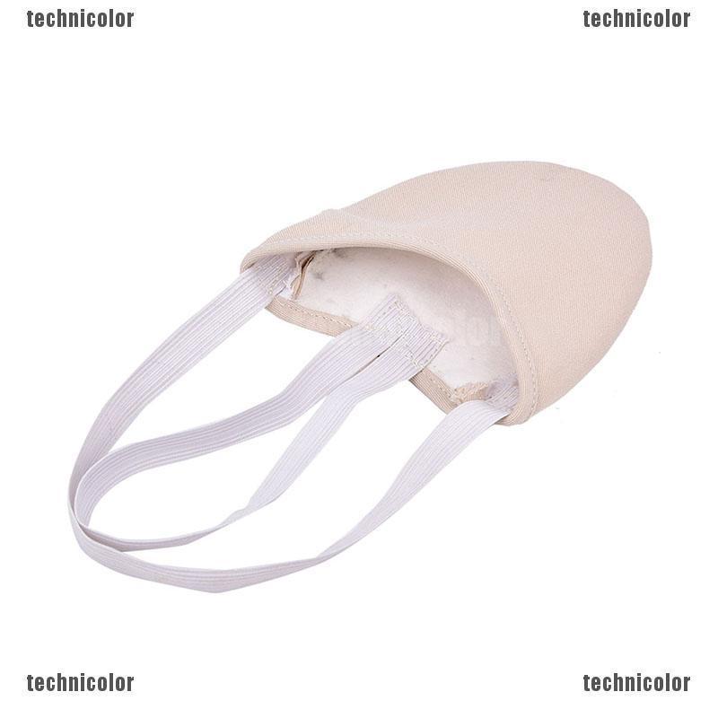 Half PU Leather Sole ballet pointe Dance Shoe Rhythmic Gymnastic Slipper FooH/_hg