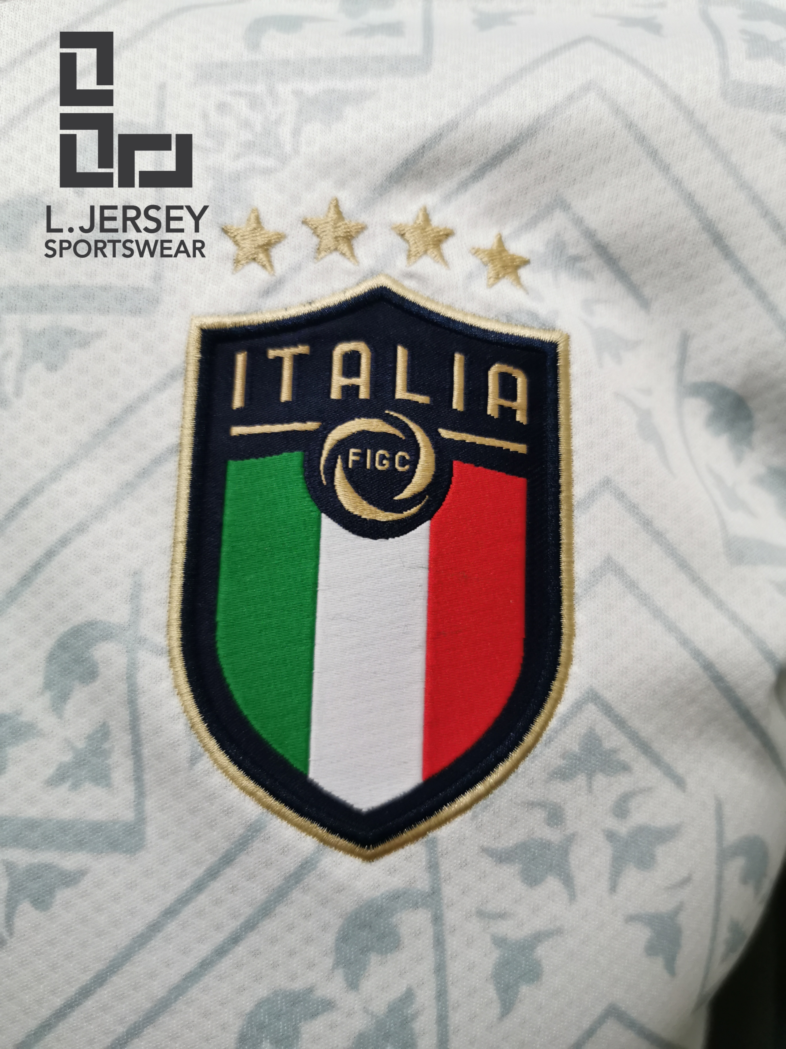 Italy Men Away Season 20/21 DRYCELL Fans Issue Jersey with #21 PIRLO + Patch Printing
