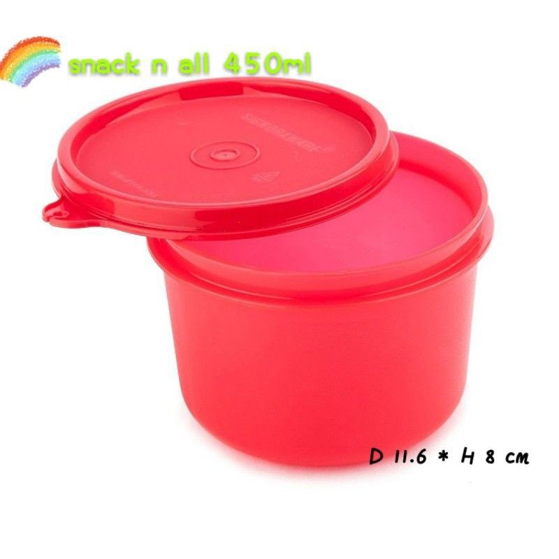 Tupperware Snack N All 450ml 1pc Red