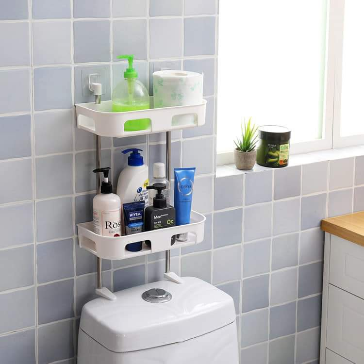 Double-layer toilet rack 双层马桶置物架