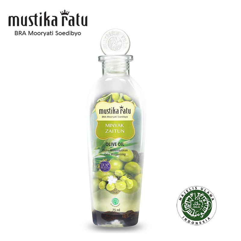 Mustika Ratu Minyak Zaitun for moisturize & freshen skin (kulit kering & bersisik) 75ml