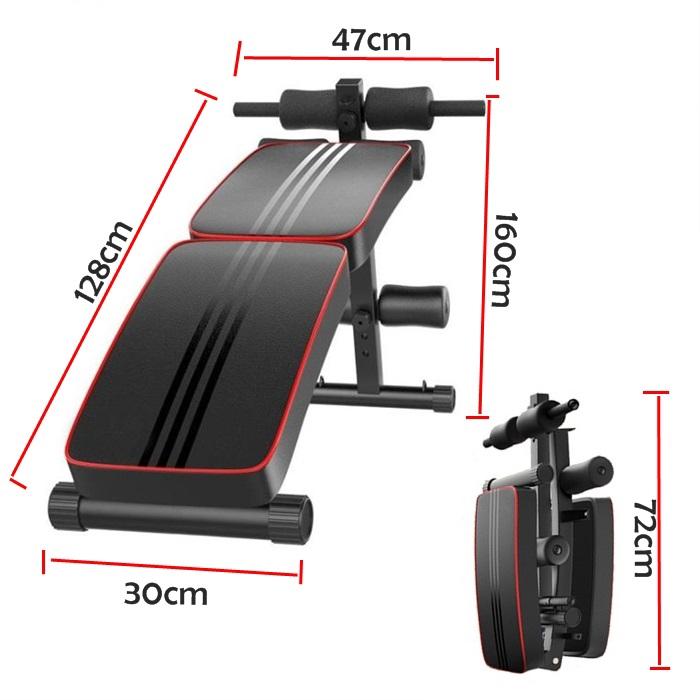 MALAYSIA- ALAT SENAMAN 6 PACK MUSCLE PERUT/ SENAMAN KEMPIS PERUT/ GYM/ Abdominal Supine Board Fitness Machine