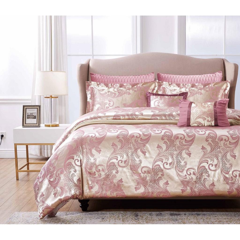 Chester London, 7pcs Silky Jacquard Comforter Set , QUEEN - LINDA