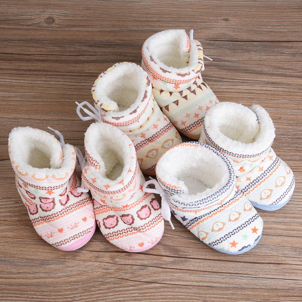 b41e558ad3a48 Baby infant Girls Winter Warm Boots Newborn Toddler Soft fleece Sole ...