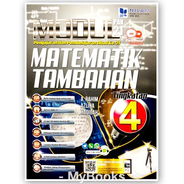 Nilam Publication Modul Pak 21 2020 Matematik Tambahan Tingkatan 4 Shopee Malaysia