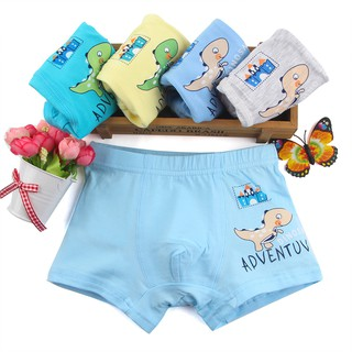 88ce2261388a 5 Pcs/lot Cartoon dinosaur Kids Boy Underwear For Baby Children's Boxer For  1-8Y