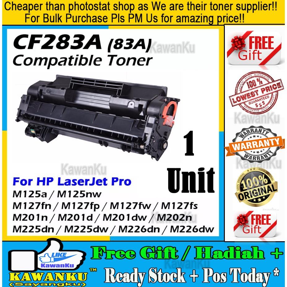 HP CF283A (83A) CompatibleToner MFP M125 M127 M127fn M225dw M225dn