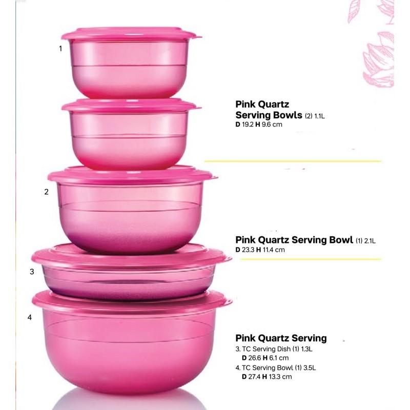 🍋Tupperware Pink Quartz Serving Bowl