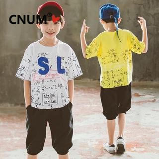 51af00ec45 5-18 Year Big Boys T-shirt +Shorts Summer Set Boys Fashion Casual Two-piece  Suit