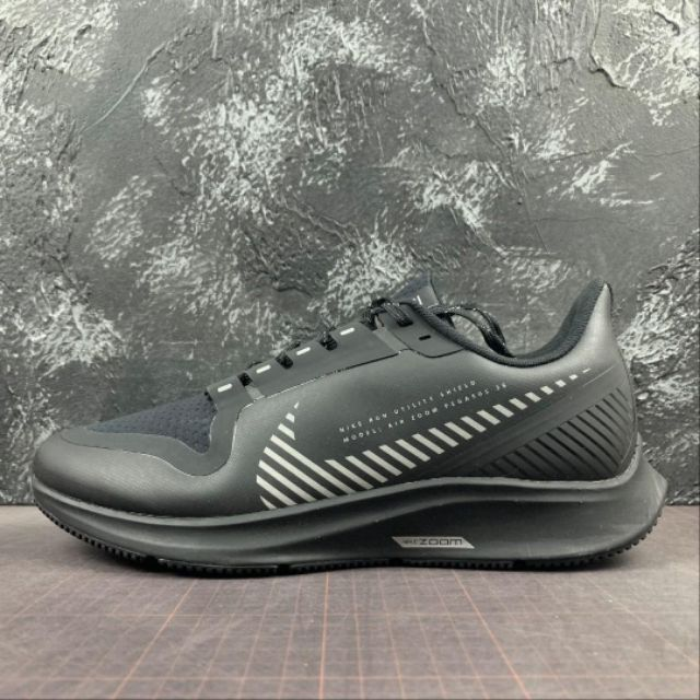 NIKE ZOOM PEGASUS 36 SHIELD BLACK RUNNING SPORTS SHOES SNEAKERS PREMIUM 36-45 EURO