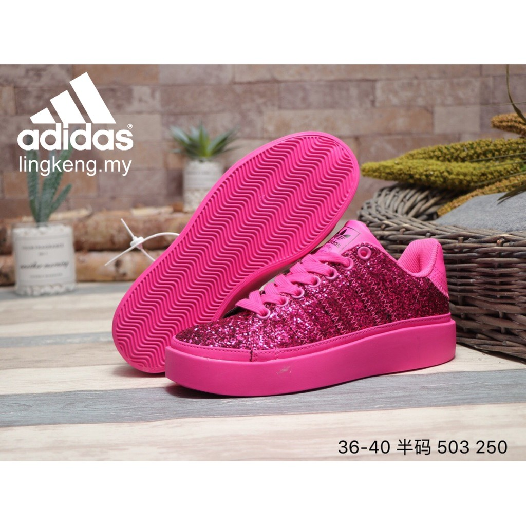 Ready Stock Adidas Fashion Nice Platform Shoes Women Outdoor Casual Pretty Hot Pink Sneakers Shopee Malaysia