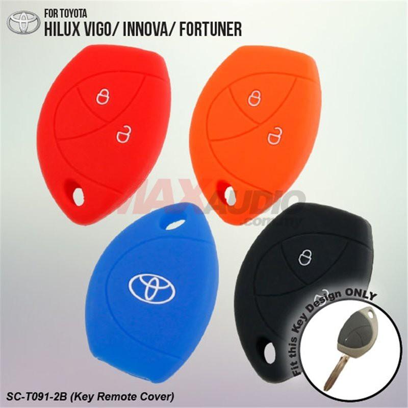 [FREE Gift] TOYOTA HILUX VIGO, INNOVA, FORTUNER 100% SILICONE CAR KEY COVER