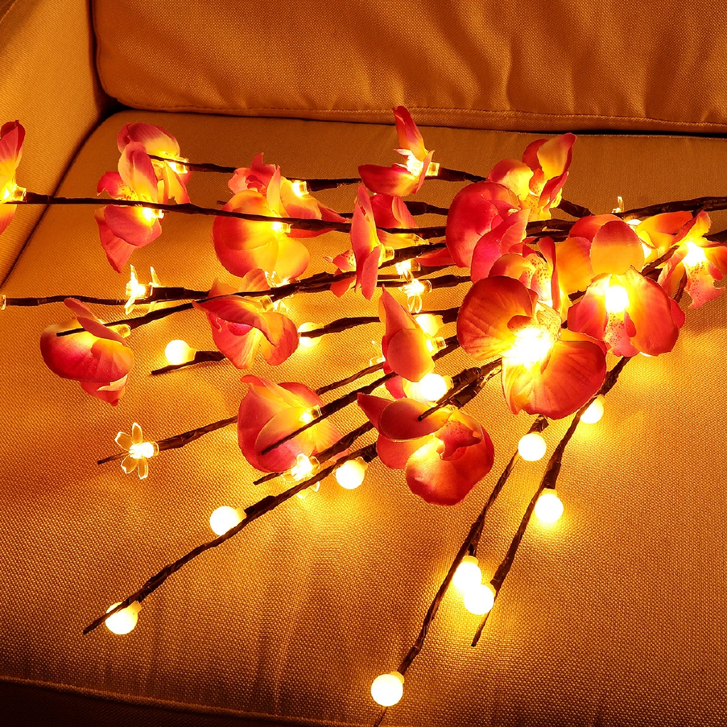 20led Tree Phalaenopsis Branch Light Christmas Party Home