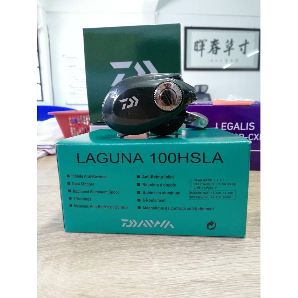 9643967553d Daiwa Laguna 100HLA/100HSLA Baitcasting Reel (Left) | Shopee Malaysia