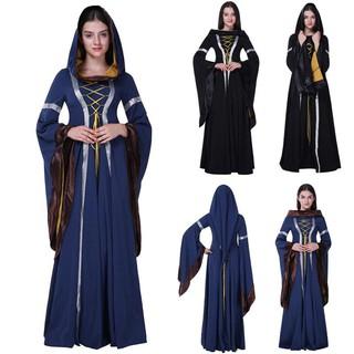 b2c734d758cfd Women's long sleeve dress medieval renaissance vintage bandage ...