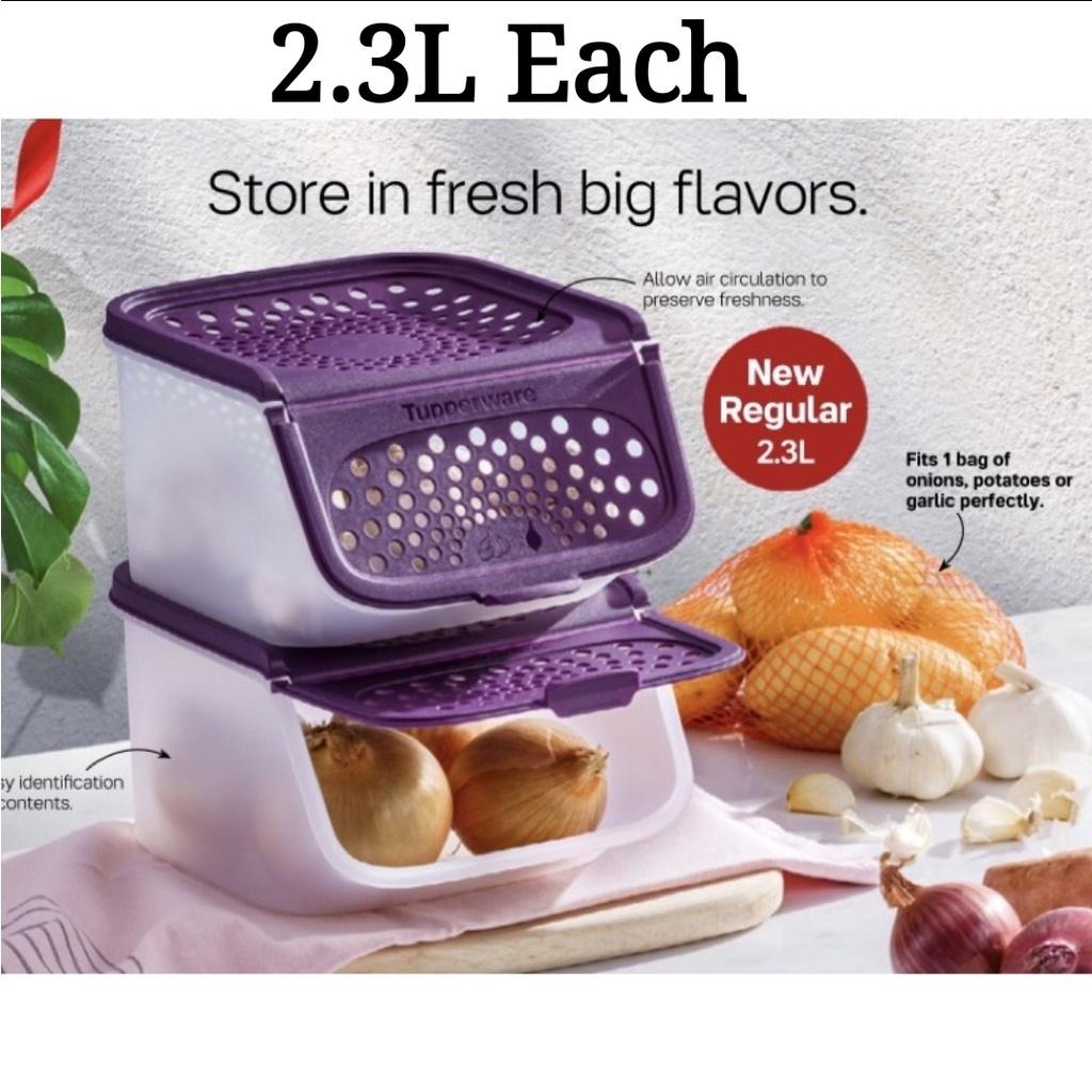 🔥SALES🔥Tupperwarep Garlic N All Keeper Set (1 PC/2 PCS) 2.3L - Purple