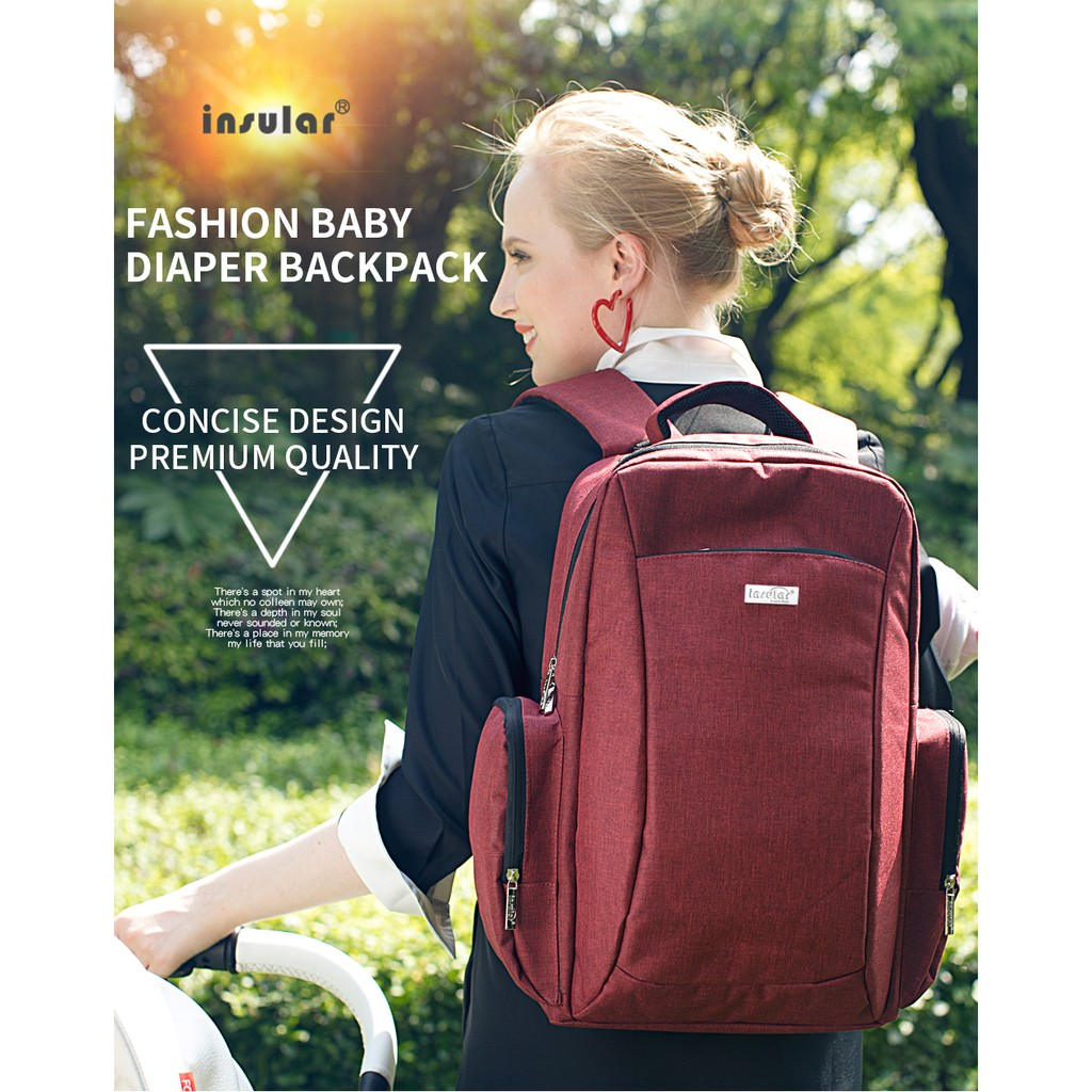 Multi-Function Travel Backpack Nappy Bags Nappy Tote Bag for Baby Care Large NEW