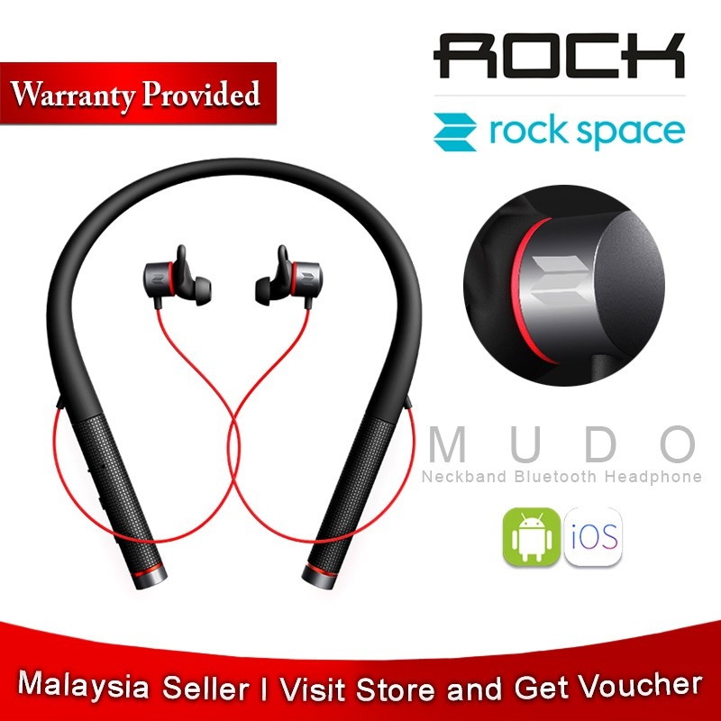 [Original] ROCKSPACE Mudo Sport Bluetooth Earphones Magnetic Waterproof  Stereo Wireless Headphones With Mic SoundBuds