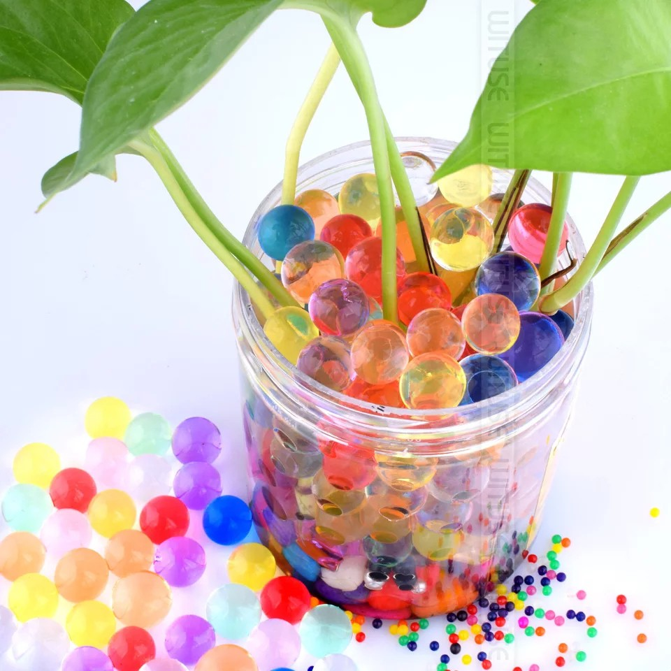 20,000 Colorful Water Gel Beads for Kids Sensory Toys Water Growing Bead for Spa Refill and D/écor 10 Colors 2 Sizes