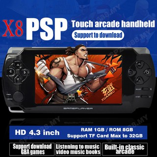 Playstation Handheld Game Console X6 8gb 4 3 10000 Built In Games