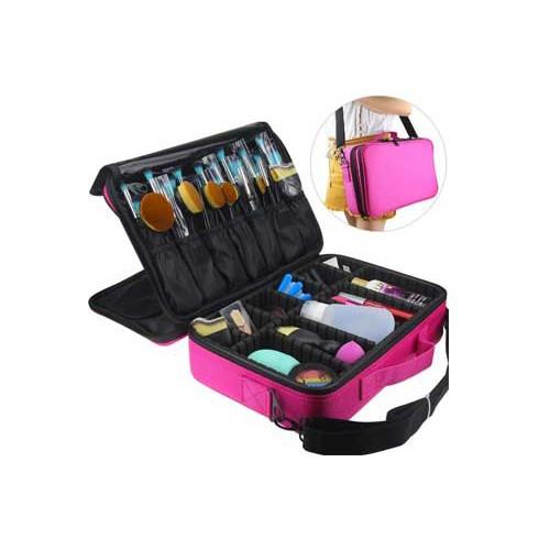 5a28122269 Travel 3 Layer Multi-function X-Large Makeup Storage Case Laptop Bag Design