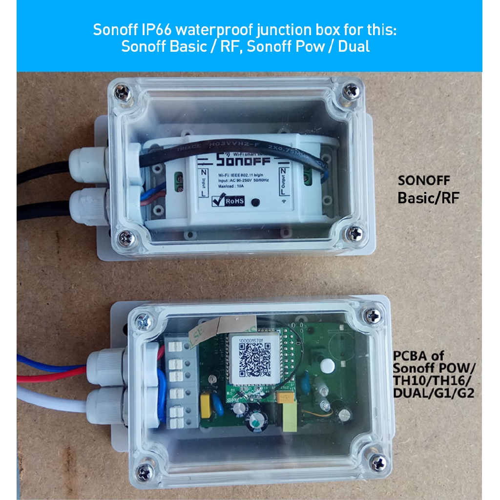 Sonoff IP66 Waterproof Cover Case for Sonoff Basic/RF/Dual/TH16/Pow R2  Smart Home Automation