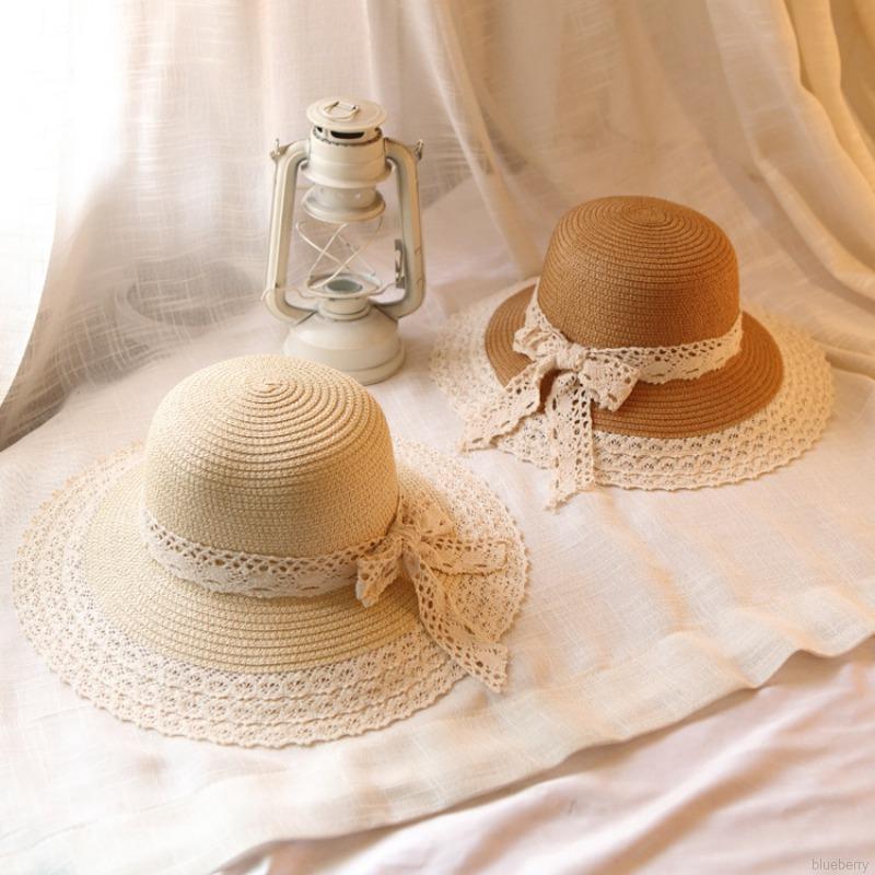 Women Sun Hat Sweet Lace Bow-knot All-match Beach Travel Sunscreen Hat