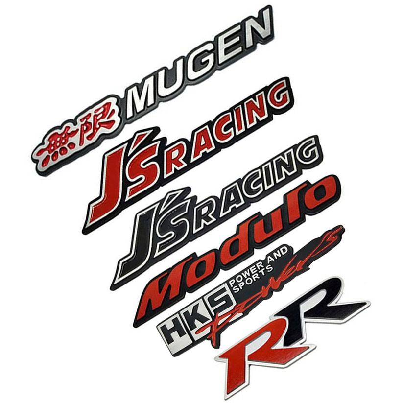 Car Modification Graphics Mugen Power Car Sticker RR Decal Emblem For Honda