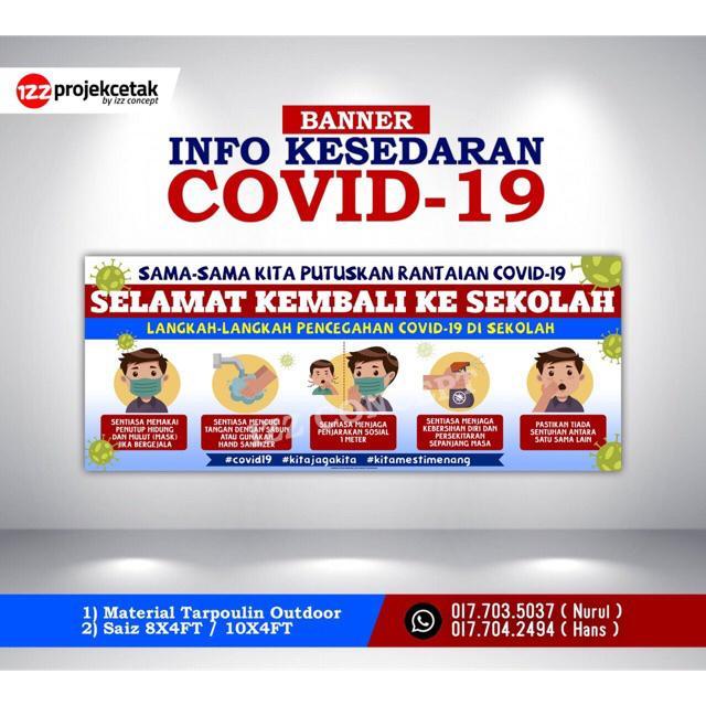 Covid19 Banner Kesedaran Covid19 Langkah Pencegahan Untuk Umum Sekolah Shopee Malaysia