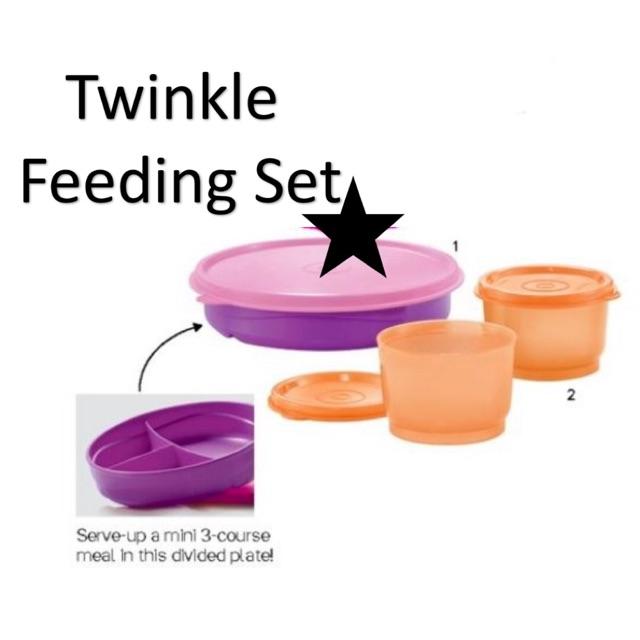 Tupperware Twinkle Feeding Set (3)