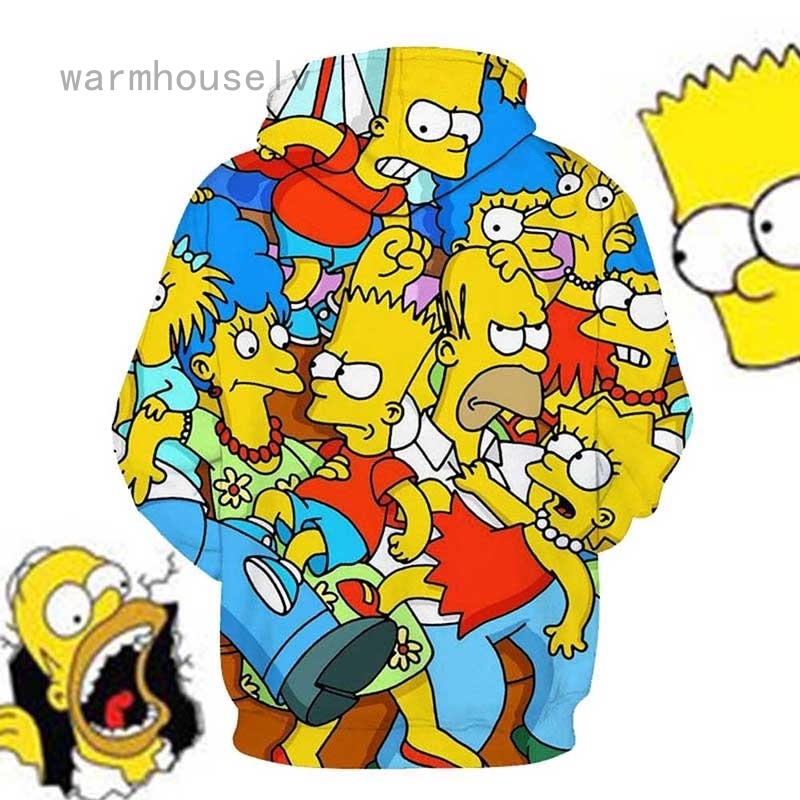 New Fashion Cartoon Simpsons 3D Printed Men\/Women Casual Long Sleeve Hoodies Sweatershirt