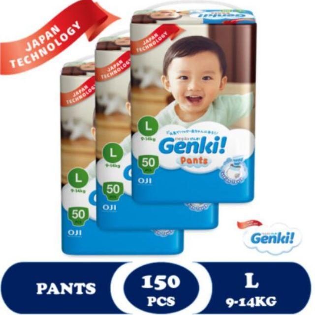 Genki Pants Mega - L50 x 3 Packs (150's) #SPECIAL Packing