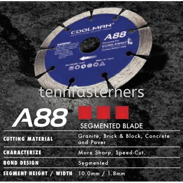 Blade A88 COOLMAN EGMENTED DIAMOND CUTTER BLADE