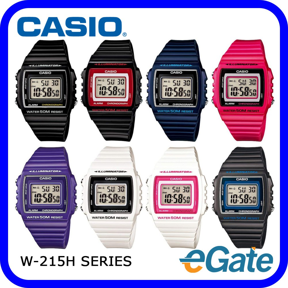 4309524a304e ProductImage. ProductImage. (2 YEARS WARRANTY) Casio W-215H Series Unisex  Digital Youth Resin Band Watch