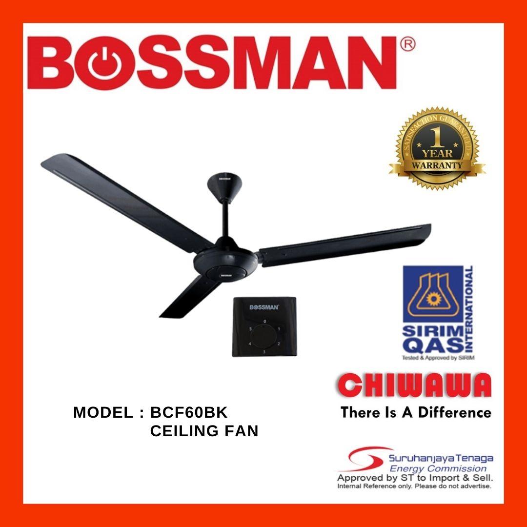 BOSSMAN BCF60BK ELECTRIC CEILING FAN