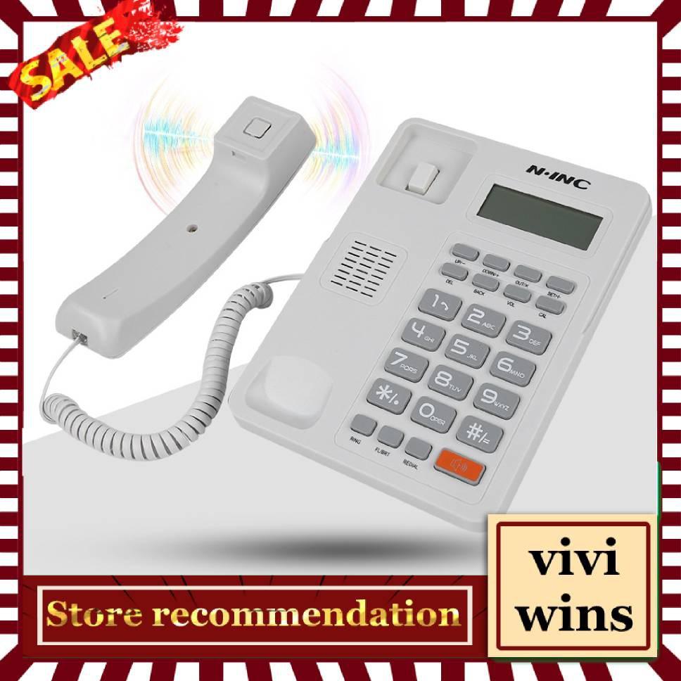 Landline Phone Home Hotel Wired Corded Desktop Phone Office