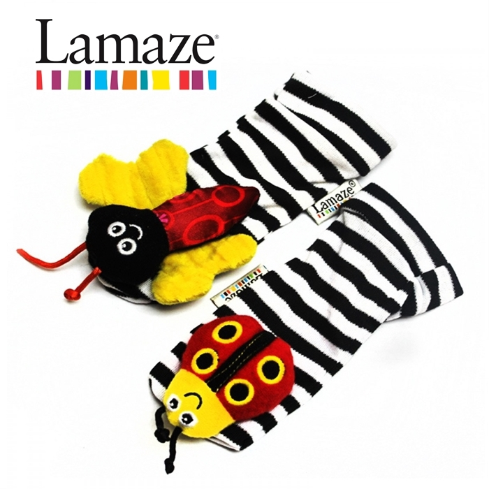 1 Pair Set Plush baby Wrist Rattle Foot Finder Baby Lamaze Garden Bugs