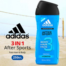 Banco solitario Se asemeja  Adidas Shower Gel 3 in 1 After Sports Face Hair & Body, 250ML | Shopee  Malaysia