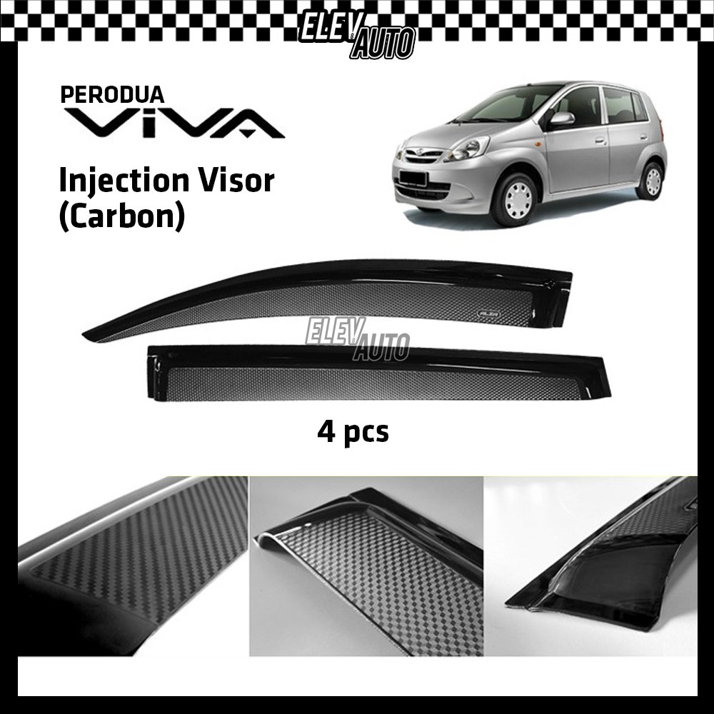 Perodua Viva CARBON Injection Door Visor