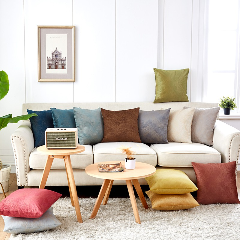Shopee & Decorative Pillows Gold Pillow Cover Sofa Cushions Cover 45x45cm For Living Room Home Decor Nordic Decoration