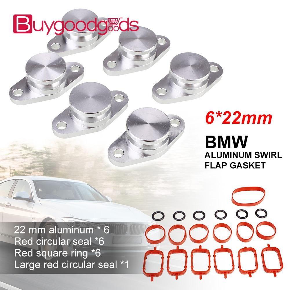 Auto Replacement Parts Automobiles & Motorcycles 6pcs 32mm Aluminum For Bmw Seal Durable Bungs Intake Manifold Suit Swirl Flaps With Intake Manifold Gasket