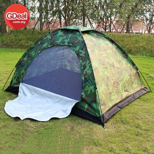 GDeal Camping Tent 2 People Outdoor Tents Military Green Waterproof Anti Ultraviolet
