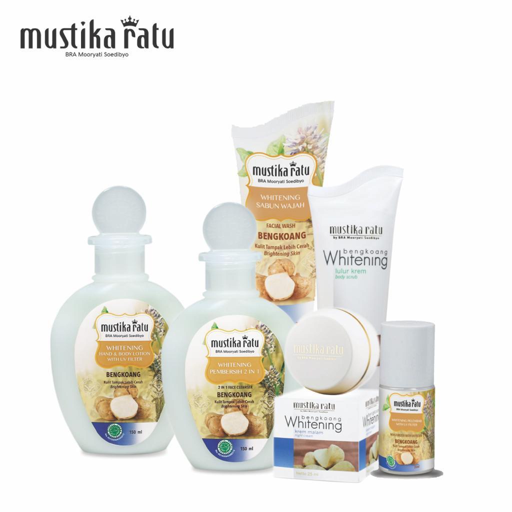 Mustika Ratu Bengkoang Whitening Series Skincare & Body Care Set