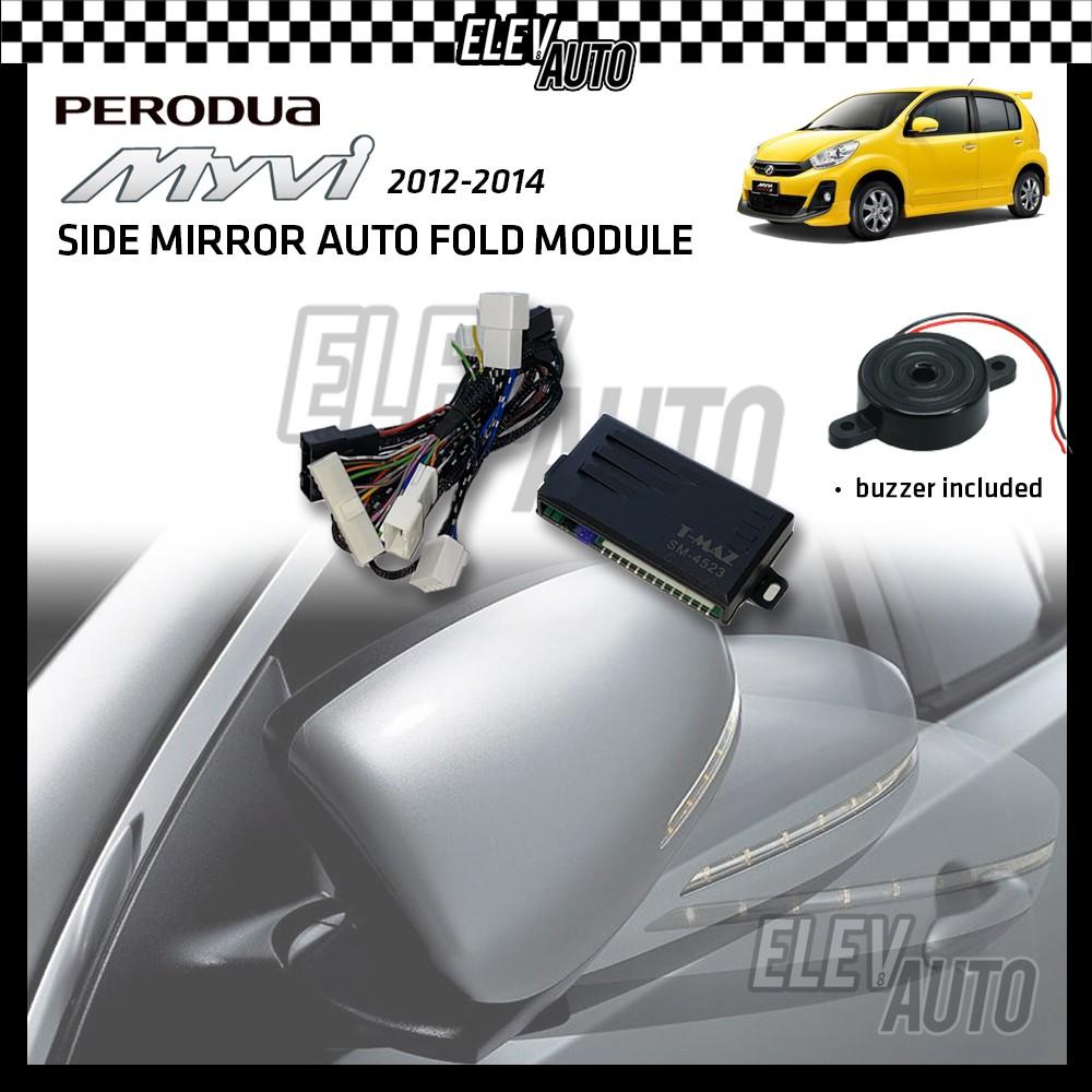 Side Mirror Auto Fold with Buzzer Perodua Myvi Lagi Best 2012-2014