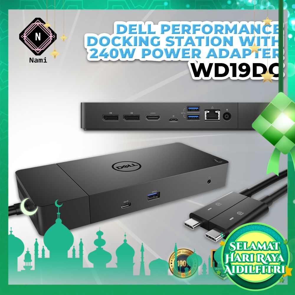 Dell Performance Dock – WD19DC with 240W Power Adapter Dual Type C Connectivity