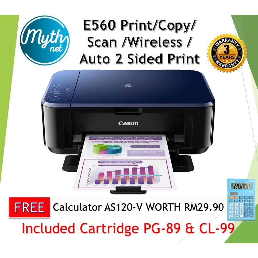 Canon Pixma E560 / E560R Wireless Ink Color All-In-One Printer  (Print,Scan,Copy)